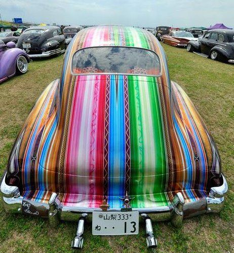 Mexican blanket paint job. wouldnt have it on my car personally, but you gotta respect the skill needed to pull this off!