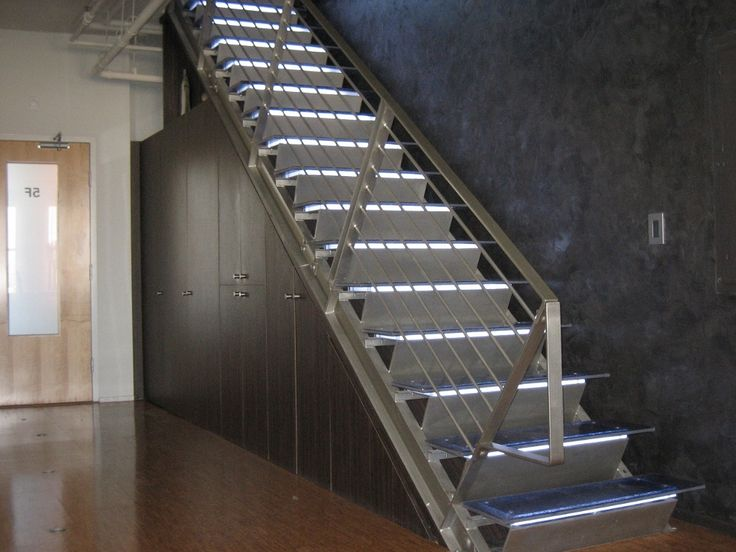 Commercial Stainless Steel Stairs And Rails For Banque Lofts In Albuquerque.