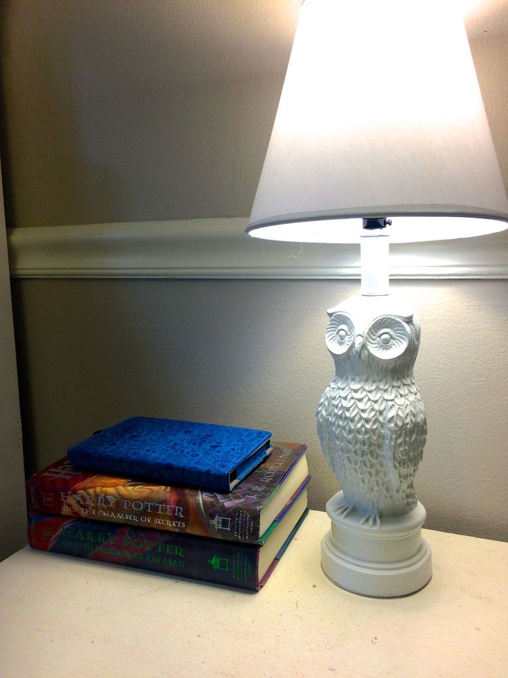 Owl lamp for a Harry Potter Room