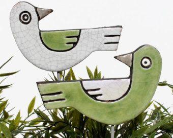 Teal jardin art jeu usine jardin décoration ornement par GVEGA