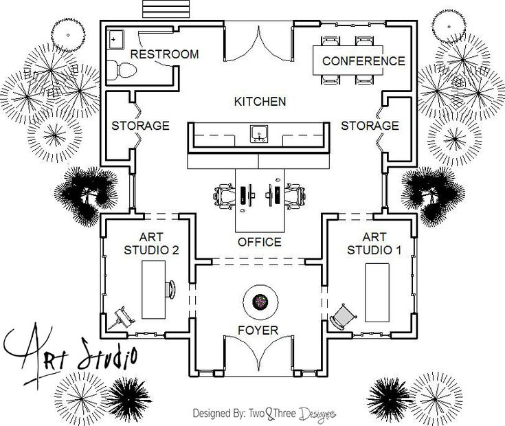Art studio floor plans gurus floor for Studio floor plan ideas