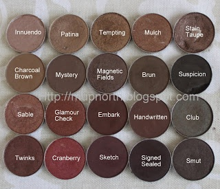 Mac's Best Eyeshadow Swatches: Browns and Plums