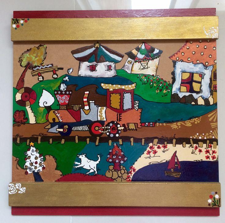 Pinturas Navidad naif a la venta