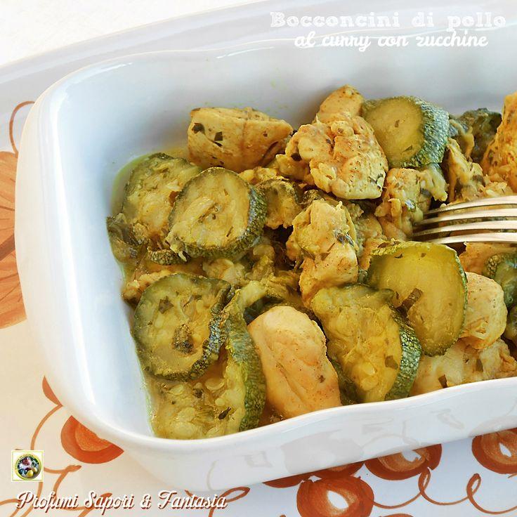 Bocconcini di pollo al curry con zucchine Blog Profumi Sapori & Fantasia