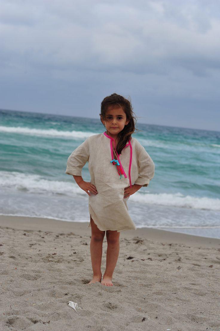 StellaTunic- Natural/Parrot Pink  http://www.creamcoralcollection.com/girls-dress-tunic-beachwear-p/gt27001.htm