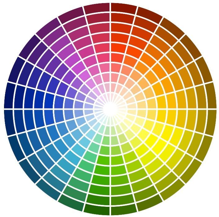 картинки спектра красок марка