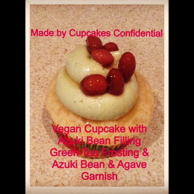 Vegan Cupcake with Azuki Bean Filling with Green Tea Frosting & Azuki Bean & Agave Garnish #vegan #cupcake #azuki #bean #paste #filling #green #tea #frosting #agave #garnish #bakery #baking #cupcakery #cupcakeart #disabled #veteran #donationsaccepted #online #edibleart #fromscratch #givingback #gratitude #help #heroes #homemade #helpavet #inneed #military #nonprofit #thankful #unsungheroes #veterans