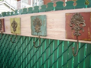 Outdoor towel rack- perfect by the pool or spa.