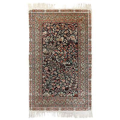 Kézi csomózású selyem szőnyeg - RASZB 014