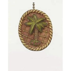 Tropical Tiki Island Palm Tree Ceiling Fan Light Chain Pull | for the ...