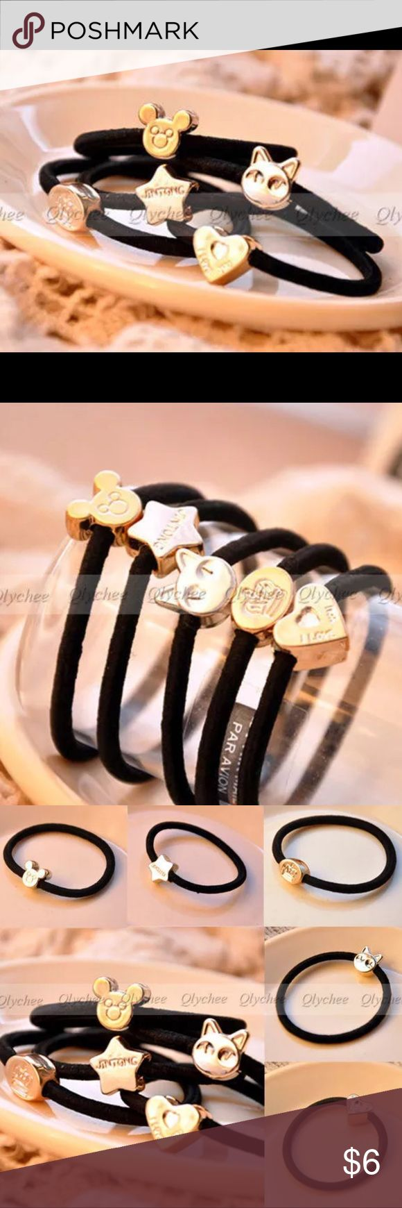 BUNDLE ONLY! 3 Black Hair Ties with Random Charms BUNDLE ONLY! Set of 3 Black Elastic Hair Ties with Random Charms. SO CUTE....I ❤️ these! Perfect for any age. SAVE 10% when you Bundle 2 or more items & pay only ONE shipping fee! Classic Trends Accessories Hair Accessories