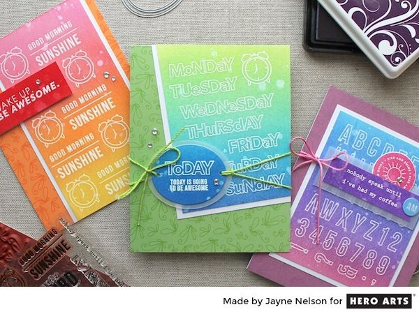 Colorful Backgrounds with Clearly Kelly Stamps | Hero Arts