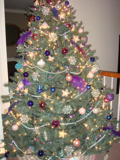 Pin by staci morrison on christmas trees pinterest - Pink and blue christmas tree ...