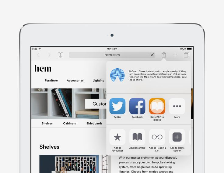 Add a web page to iBooks - iOS 9 Tips and Tricks for iPad - Apple Support