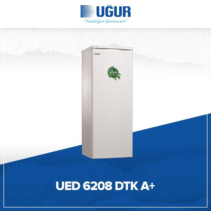 UED 6208 DTK A+ birçok özelliğe sahip. Bunlar; çevreye duyarlı çalışma sistemi, ayarlanabilir ayak, şeffaf çekmece, mekanik termostat ve yön değiştirilebilir kapı. #uğur #uğursoğutma