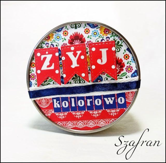 Szafranowe Twory: folkowy sTworek dla scrap-ścinek! :)