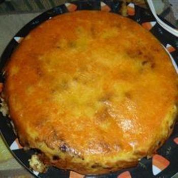 Breakfast Upside Down Cake: Shredded Cheddar Cheese, Bacon Cheese, Cakes Recipes, Breakfast Upside, Upside Down Cakes, Breakfast Cakes, Red Belle Peppers, Chops Onions, Breakfast Brunch