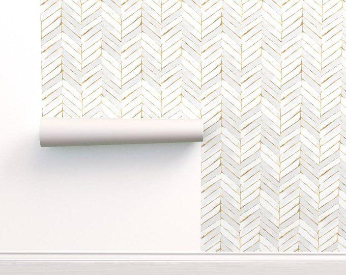 Self Adhesive Herringbone Removable Wallpaper Peel And Stick Etsy Herringbone Wallpaper Self Adhesive Wallpaper Grey Lattice Wallpaper