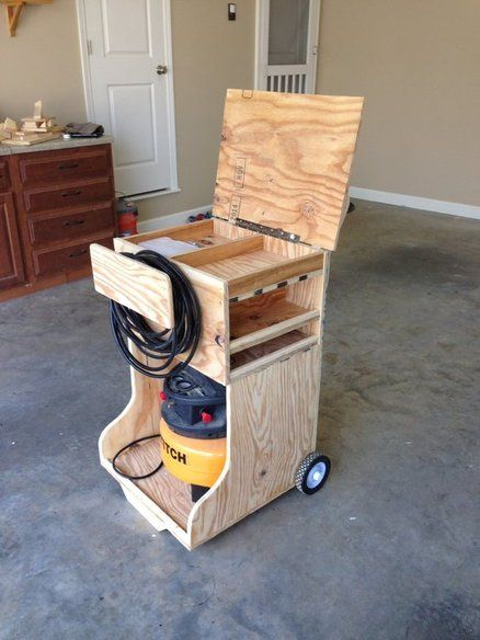 17 best images about air compressor cart on pinterest for Woodworking cart