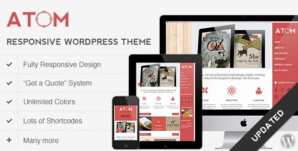 Atom - A Design Studio Full Resposive WordPress - ThemeForest Item for Sale