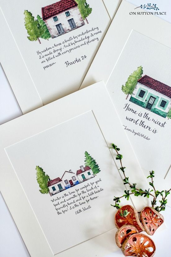 Captivating All About Home | Free Printables For Winter Decor: Set Of Three Prints That  Are