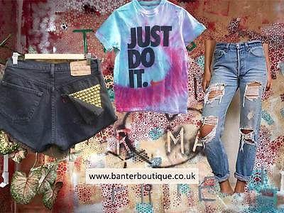 Vintage Levis 501 High Waist MOM jeans SHREDDED FRAYED SIZE 10 RETRO | eBay