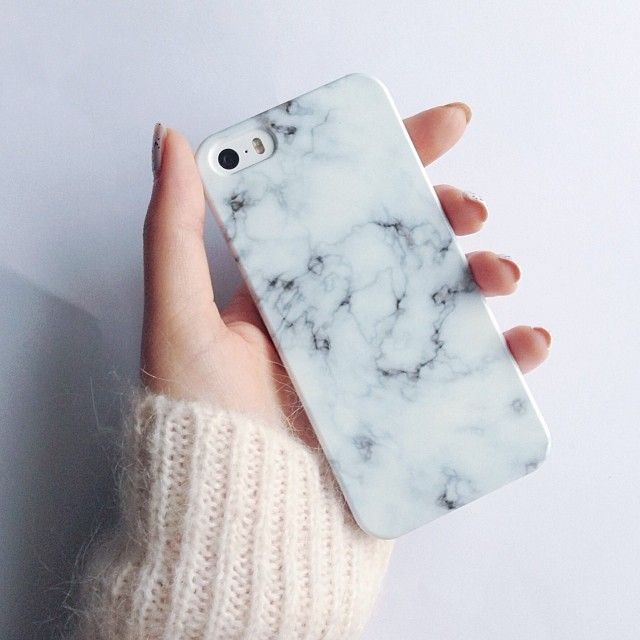 Leather Skin Hard Shield Case for iPhone SE/5s/5 - White Marble Grain Purchased