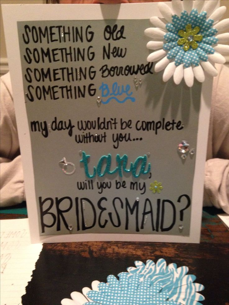 how to ask someone to be a bridesmaid wording