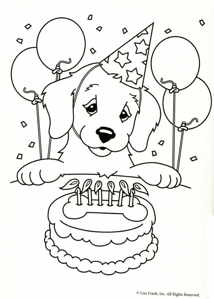 Pin By Kim Flanegin On Arts Crafts Diy Puppy Coloring Pages Birthday Coloring Pages Happy Birthday Coloring Pages