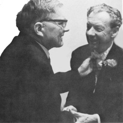 Rare photo: Dmitri Shostakovich and Benjamin Britten