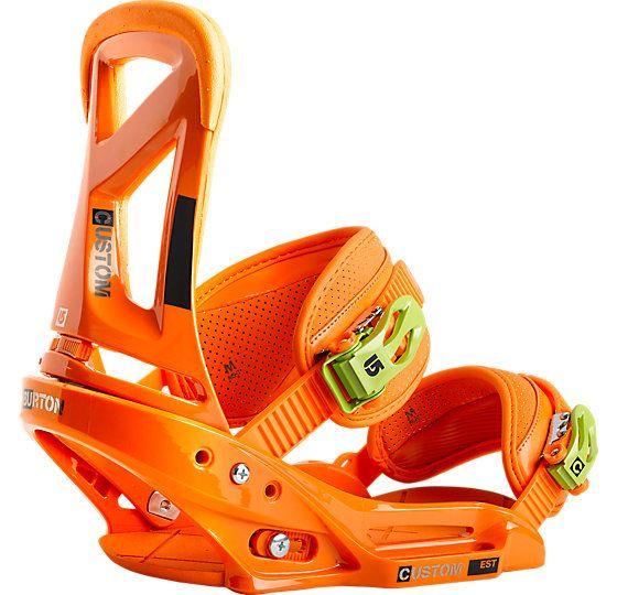Custom EST Snowboard Binding - Burton Snowboards #burton $binding #customest #orange