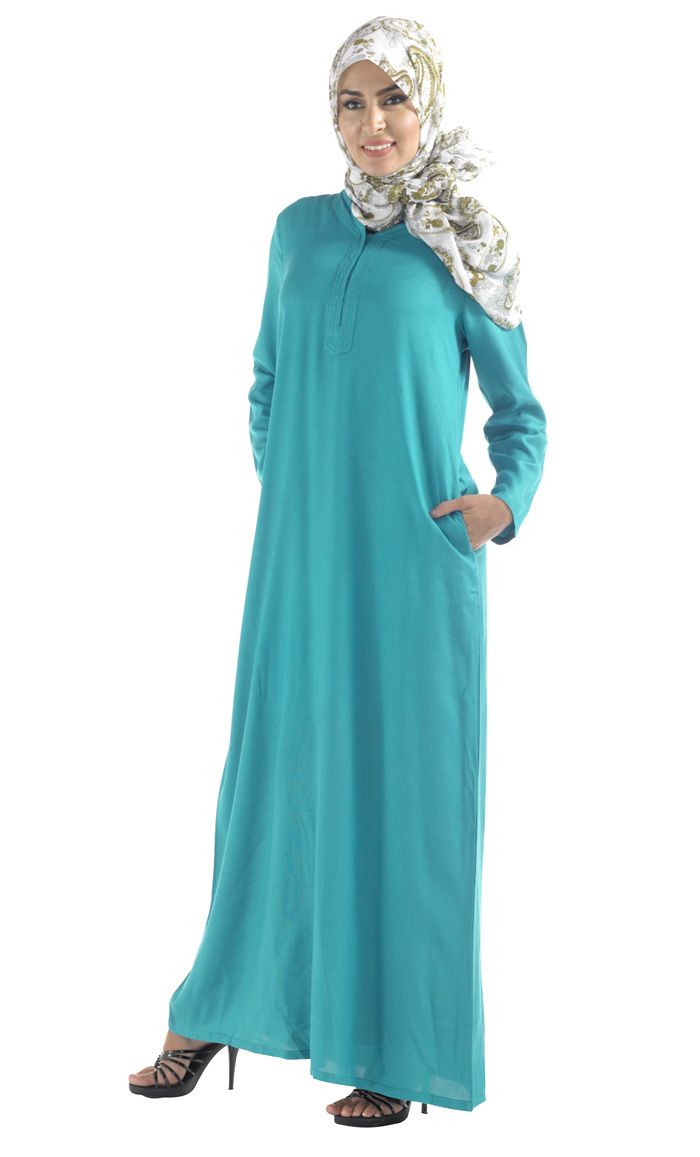 Long sophisticated RAYON abaya in popular colors.