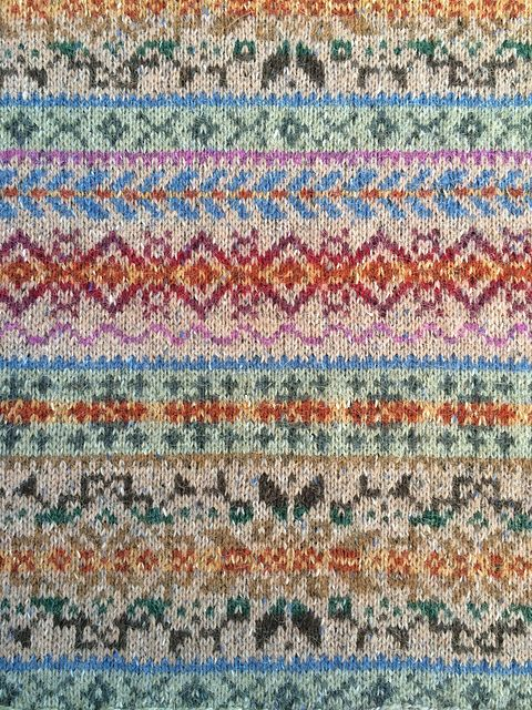 Ravelry: Project Gallery for Fairisle Club: Traditional Fair Isle Throw pattern by Marie Wallin