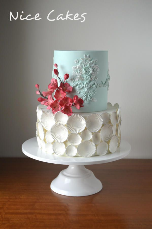 Blue And White Birthday Cake By Nice Cakes