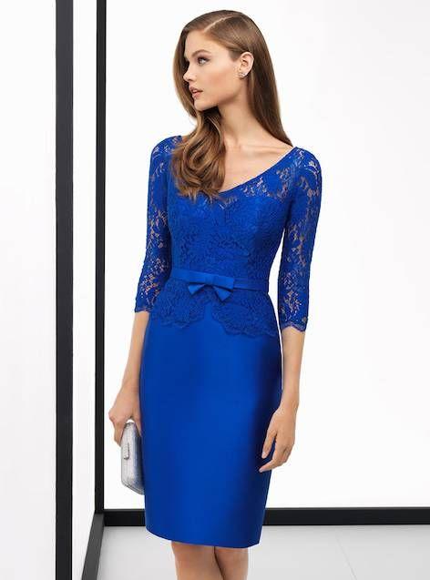 ebbc8d7b9 Vestido madrina de boda azul 2018