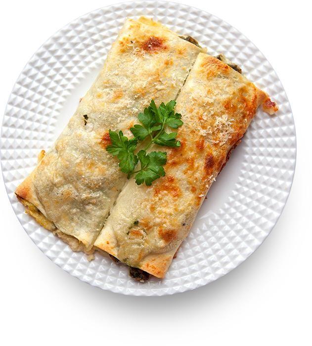 Каннеллони с телятиной и шпинатом (Cannelloni al Forno con Vitello e Spinaci)