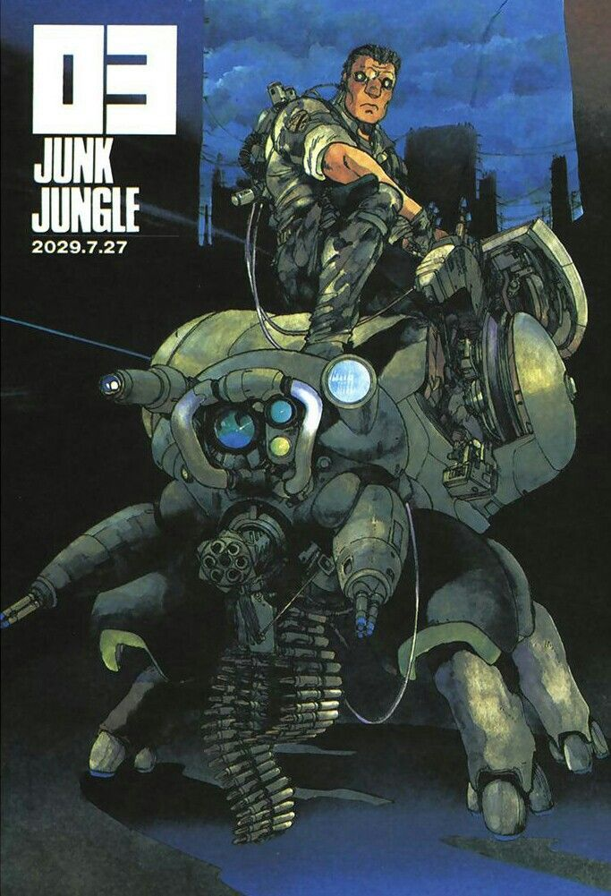 Batou And The Fuchikoma Ghost In The Shell Masamune Shirow Ghost In The Shell Cyberpunk Anime Anime
