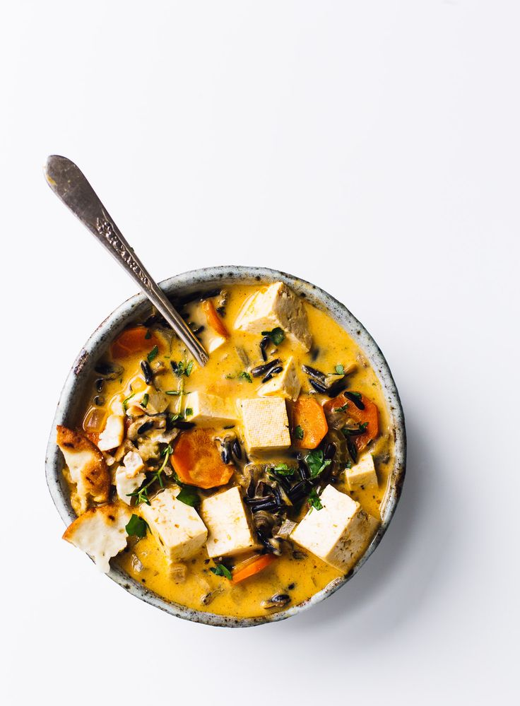 Rustic Tofu Wild Rice Soup {vegetarian remake of minnesota wild rice soup}