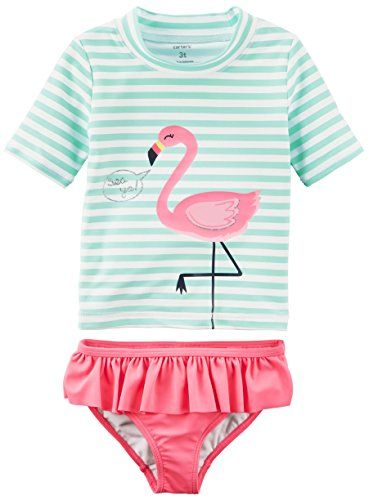 35ed16fe6 Amazon.com: Carter's Baby Girls' Two Piece Swimsuit: Clothing ...