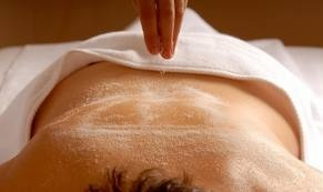 Herbal Salt Body Scrub  This invigorating herbal salt body scrub will energize and awaken the mind, deep-cleanse as well as tone your entire body. This treatment starts off with a 45mins massage follow by 15mins body scrub a hot shower then apply a natural body moisturizer.