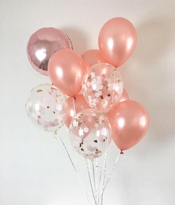 rose gold balloons rose gold confetti balloons rose gold bridal shower rose gold wedding rose gold bachelorette baby shower balloons party in 2018 iphone