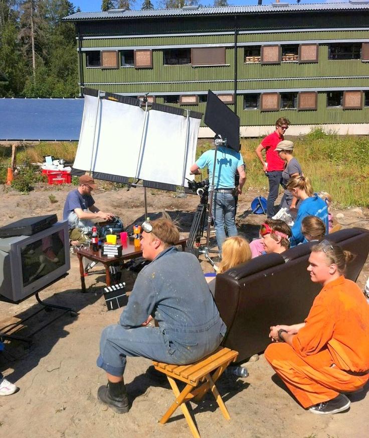 TV2 Supersunnuntain 2012 imagomainoksen kuvauksissa Santahaminassa.