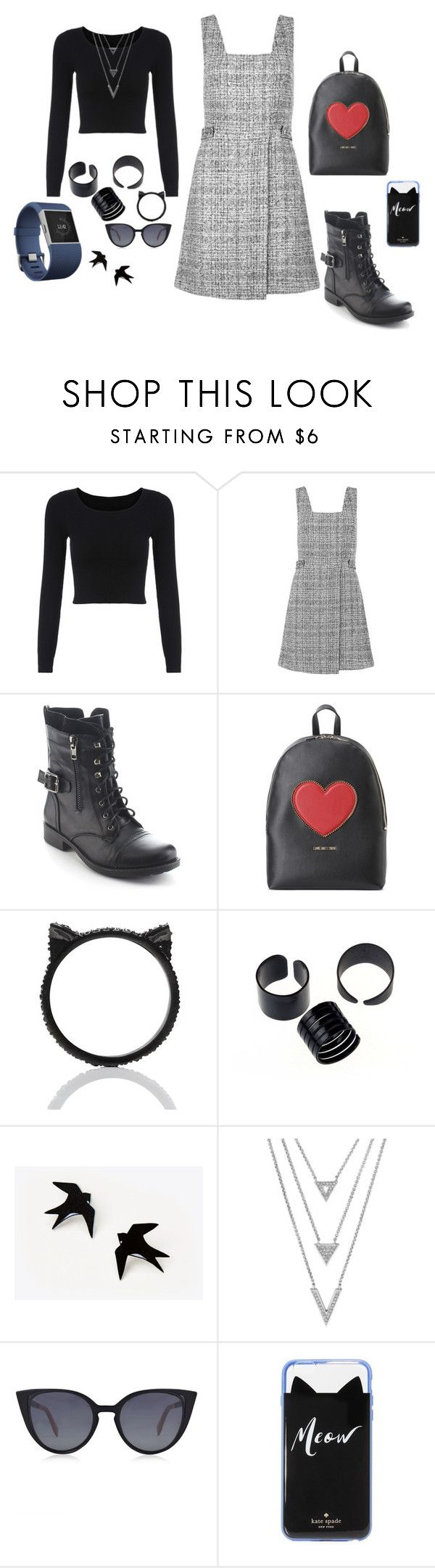 Vestindo a quinta-feira. by simone-silva-s2 on Polyvore featuring moda, New Look, Refresh, Love Moschino, Kate Spade, Fendi and Fitbit