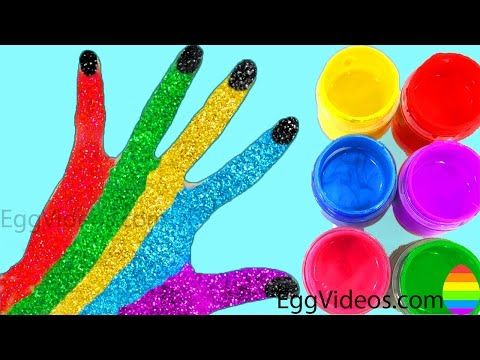 Learn Colors for Children Body Paint Finger Family Song Nursery Rhymes Learning Video EggVideos.com - YouTube