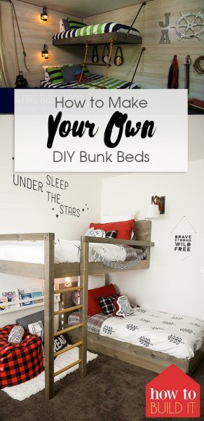 how to make your own diy bunk beds - Hausgemachte Etagenbetten Mit Rutsche