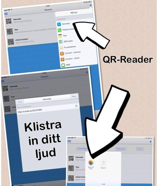 Använder du iPhone eller iPad Observera! Eftersom Croak.it inte fungerar just nu har jag gått över till Fotobabble Steg 1 Vill du göra en QR-kod till en bild, där eleven pratar till eller skrive…