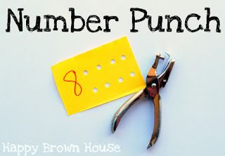 Number Punch - Simple, great for fine motor and fun for kids as they work on number recognition!