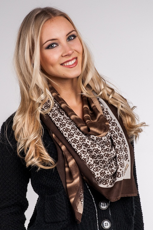 Guess Candence Wool Scarf, brown