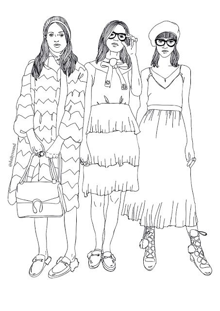 Gucci Fall 2015/2016 runway show, fashion trends, illustrations, fashion illustration, nerd, geek chic, geek style, nerd style