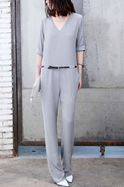 Elegant V-neck Jumpsuit